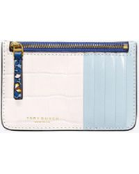 Tory Burch - Color-block Top-zip Card Case - Lyst