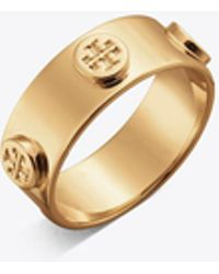 Tory Burch Logo Stud Ring - Multicolour
