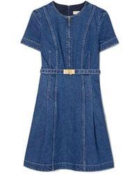 Tory Burch Nadia Denim Dress - Blau