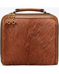Tory Burch Arthur Fur Briefcase - Brown