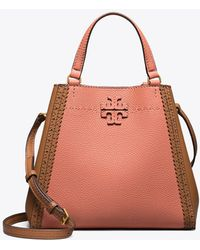 d312275ebbdb Tory Burch - Mcgraw Brogue Small Carryall - Lyst
