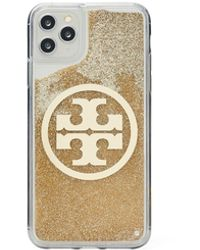 Tory Burch Perry Bombe Glitter Phone Case For Iphone 11 Pro Max - Metallic