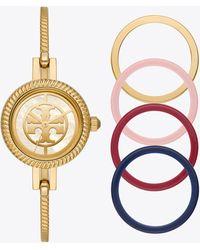 Tory Burch The Reva Bangle Bracelet Watch Gift Set - Metallic