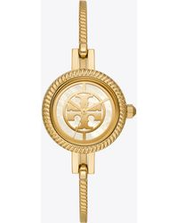 Tory Burch The Reva Bangle Bracelet Watch Gift Set - Metallic