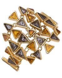 Tory Burch - Triangle Statement Bracelet - Lyst