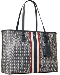 Tory Burch Gemini Link Canvas Small Tote - Mehrfarbig