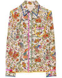 Tory Burch Contrast-Binding Printed Shirt - Mehrfarbig