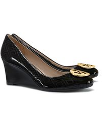 Tory Burch - Marion Quilted Wedge - Lyst