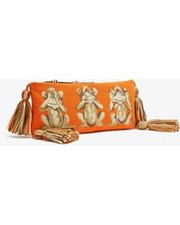 Tory Burch - Monkey See Needlepoint Pouch   841   Pouches - Lyst