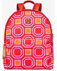 Tory Burch - Printed Nylon Backpack - Lyst
