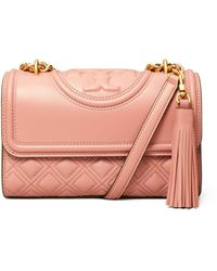 Tory Burch Fleming Small Convertible Shoulder Bag - Pink