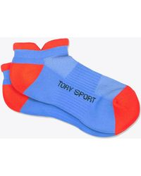 Tory Sport Performance Compression No-show Socks - Blue