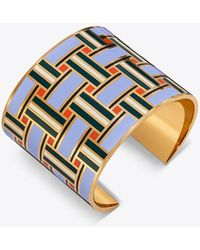 Tory Burch - Geo Enamelled Statement Cuff - Lyst