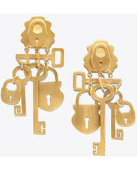 Tory Burch - Surreal Lock & Key Earring - Lyst