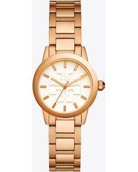 Tory Burch - Gigi Watch, Rose Gold/ivory, 28 Mm - Lyst