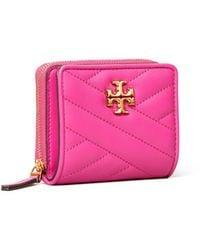 Tory Burch Kira Chevron Bi-Fold Wallet - Pink