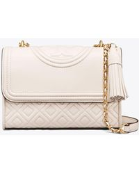 Tory Burch - Fleming Convertible Small Leather Shoulder Bag - Lyst