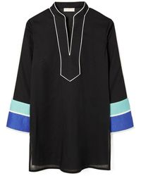 Tory Burch Color-blocked Tunic - Blue