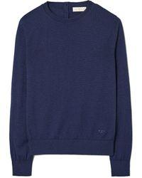Tory Burch Cashmere Iberia Pullover - Blue