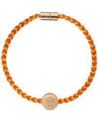 Tory Burch Kira Braided Charm Bracelet - Metallic
