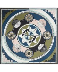 Tory Burch - Constellation Silk Square Scarf - Lyst