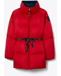 Tory Burch Down Coat - Red
