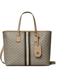 Tory Burch Gemini Link Canvas Top-zip Tote - Multicolour