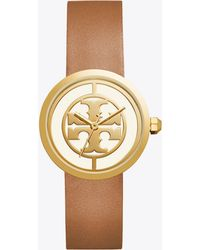Tory Burch - 36mm Reva Leather-strap Watch - Lyst