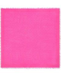 Tory Burch Logo Jacquard Traveler Scarf - Pink