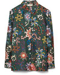Tory Burch Printed Pajama Top - Black