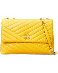 Tory Burch Kira Chevron Small Convertible Shoulder Bag - Yellow