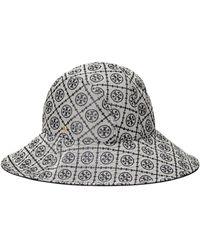 Tory Burch T Monogram Jacquard Reversible Bucket Hat - Blue