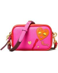 Tory Burch Perry Patchwork Hearts Mini Bag - Multicolour