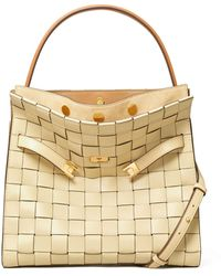 Tory Burch - Lee Radziwill Woven Leather Double Bag - Lyst