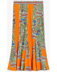 Tory Burch - Printed Jersey Skirt - Lyst