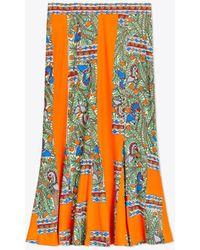 Tory Burch - Printed Jersey Skirt - Lyst