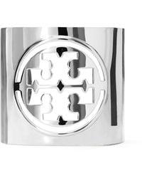 Tory Burch Miller Large Logo Cuff - Mettallic