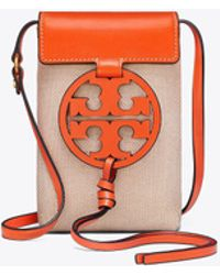 Tory Burch - Miller Canvas Phone Cross-body - Lyst
