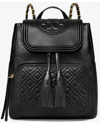 Tory Burch Fleming Backpack - Black