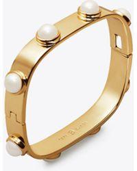 Tory Burch - Studded Pearl Bracelet - Lyst