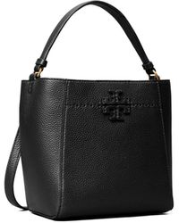 Tory Burch Mcgraw Small Bucket Bag - Black