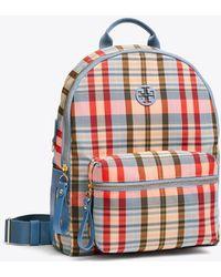 Tory Burch - Tilda Plaid Zip Backpack | 984 | Backpacks - Lyst