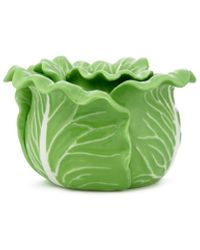 Tory Burch Lettuce Ware Candle Holder, Set Of 2 - Green