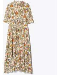 Tory Burch Printed 3/4-sleeve Long Shirt Dress - Multicolour