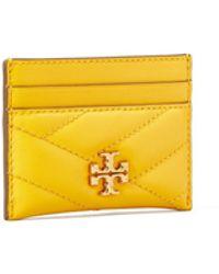 Tory Burch Kira Chevron Card Case - Multicolour