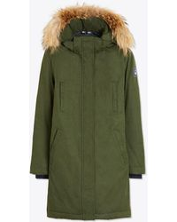 Tory Sport Hooded Down Parka - Green