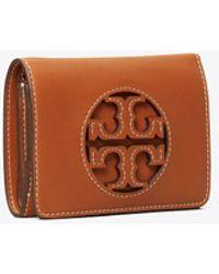 Tory Burch Miller Medium Flap Wallet - Brown