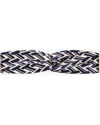 Tory Burch - T Lattice Silk Headband - Lyst