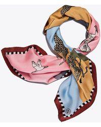 Tory Burch - Safari Silk Neckerchief - Lyst