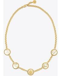 Tory Burch - Semi-precious Multi Necklace - Lyst